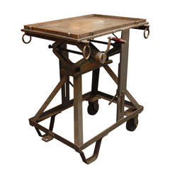 An iron adjustable industrial Scissor Table