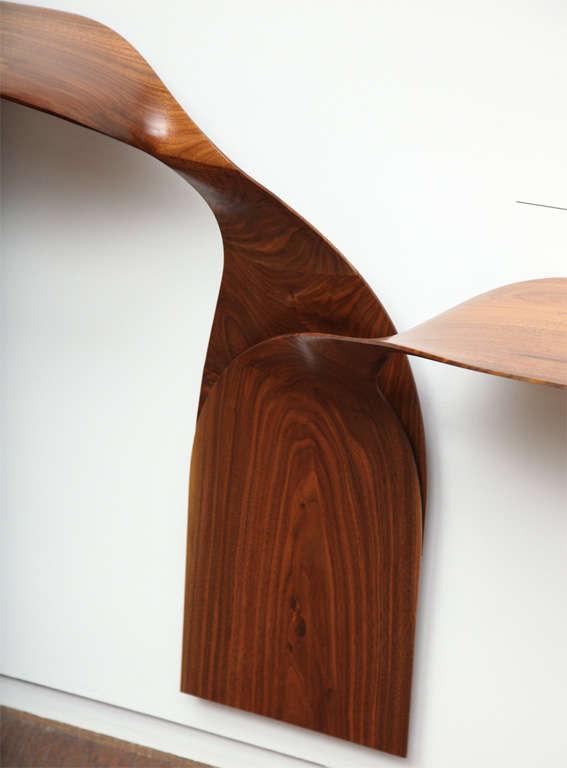 American Carol Egan, Hand-Carved Walnut Console, USA, 2012 For Sale
