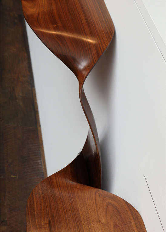 Carol Egan, Hand-Carved Walnut Console, USA, 2012 In Excellent Condition For Sale In New York, NY