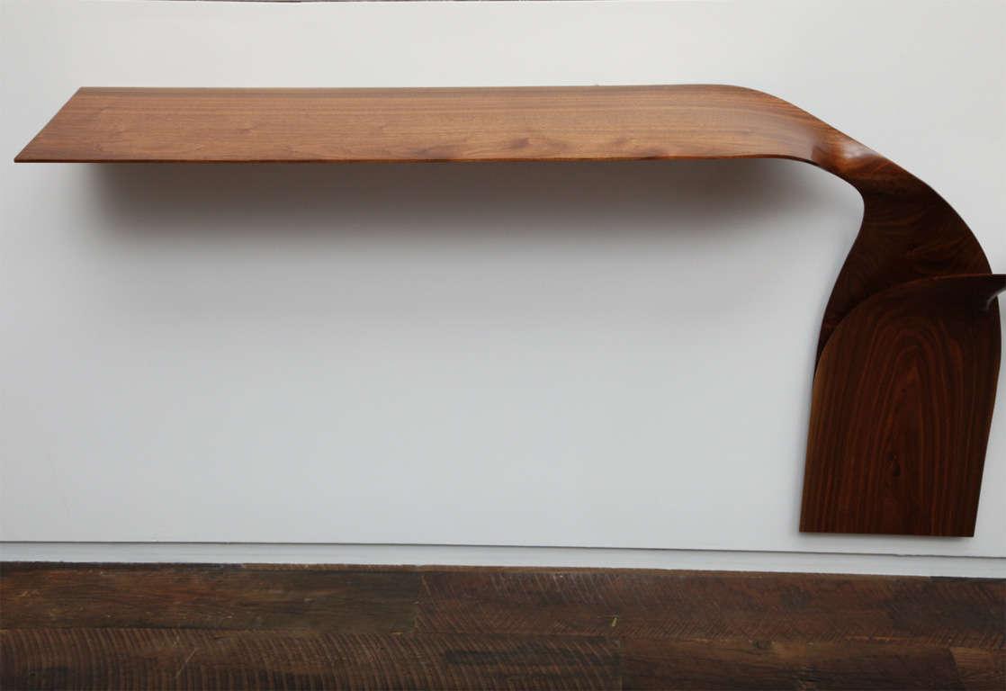Contemporary Carol Egan, Hand-Carved Walnut Console, USA, 2012 For Sale