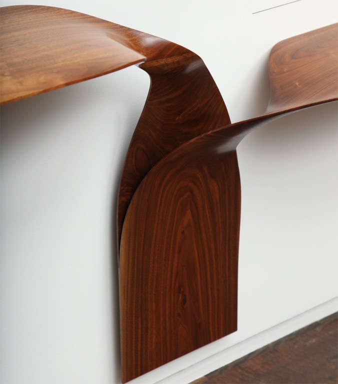 Carol Egan, Hand-Carved Walnut Console, USA, 2012 For Sale 1