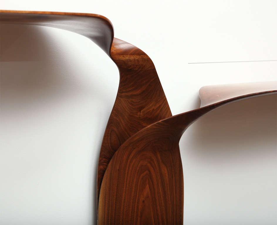 Carol Egan, Hand-Carved Walnut Console, USA, 2012 For Sale 2