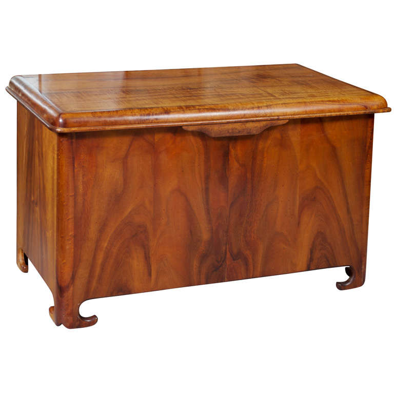 Koa Wood Kitchen Cabinets: Large Custom Hawaiian Koa Wood Chest At 1stdibs