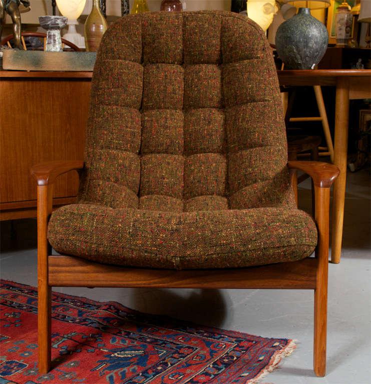 Scandinavian Danish Modern Lounge Chair and Ottoman at 1stdibs