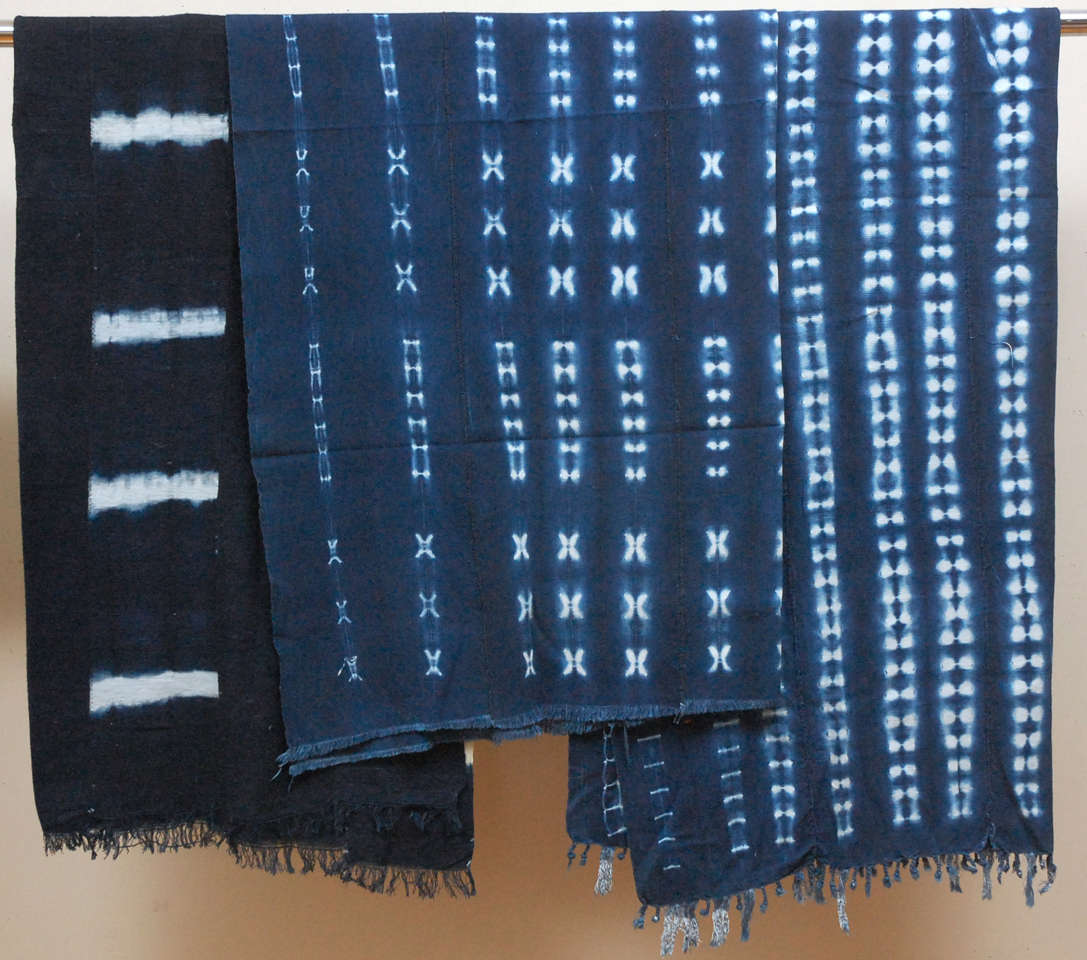 Vintage African Dogon Indigo Resist Dye Panels image 2