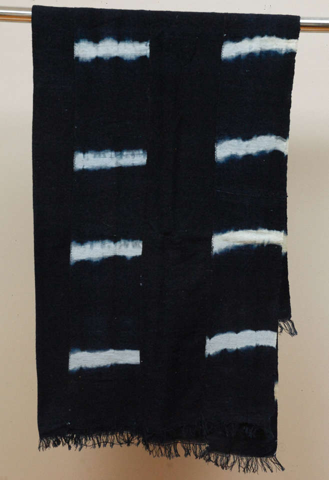 Vintage African Dogon Indigo Resist Dye Panels image 5