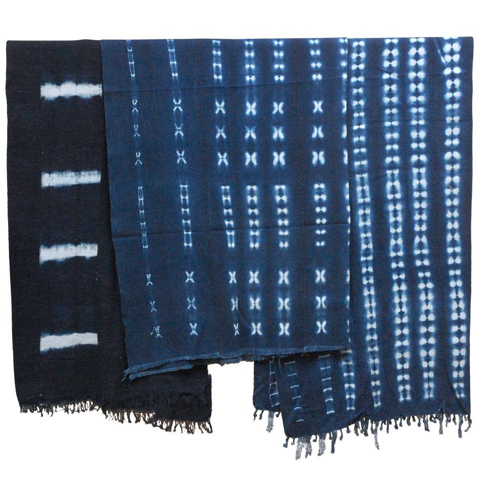 Vintage African Dogon Indigo Resist Dye Panels