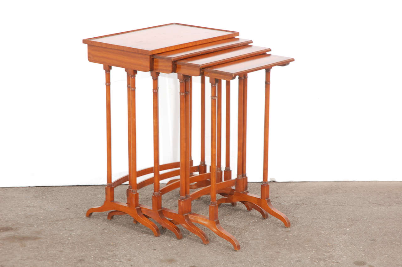Early 20th C English Nesting Tables 2