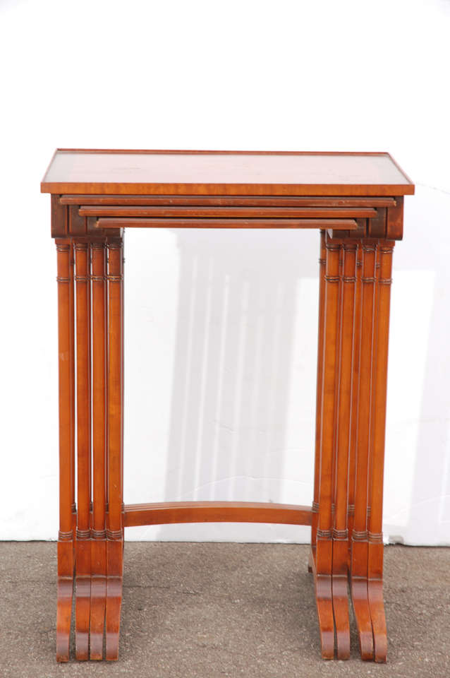 Early 20th C English Nesting Tables 6