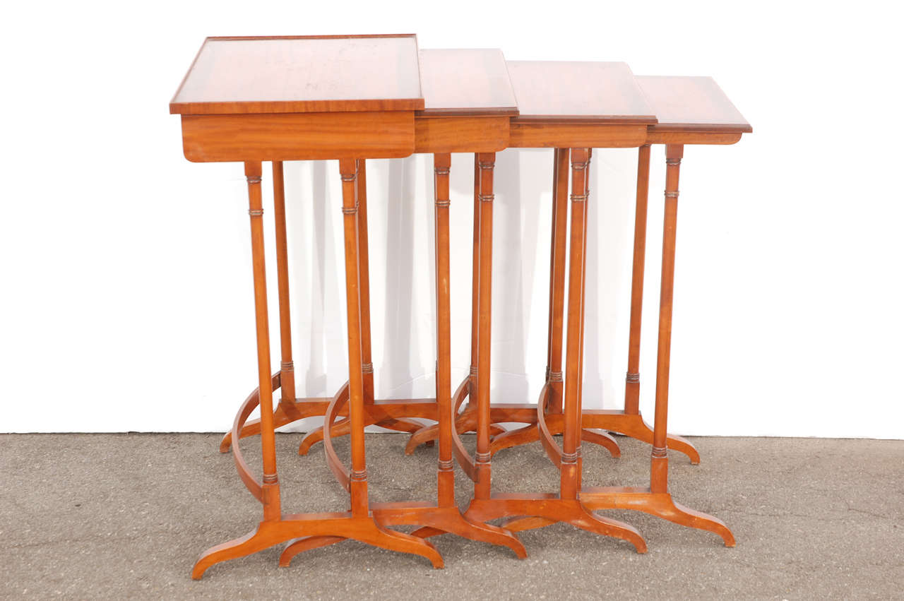 Early 20th C English Nesting Tables 8