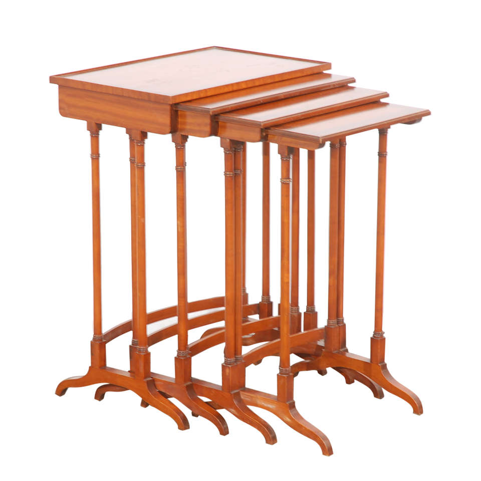 Early 20th C English Nesting Tables 1