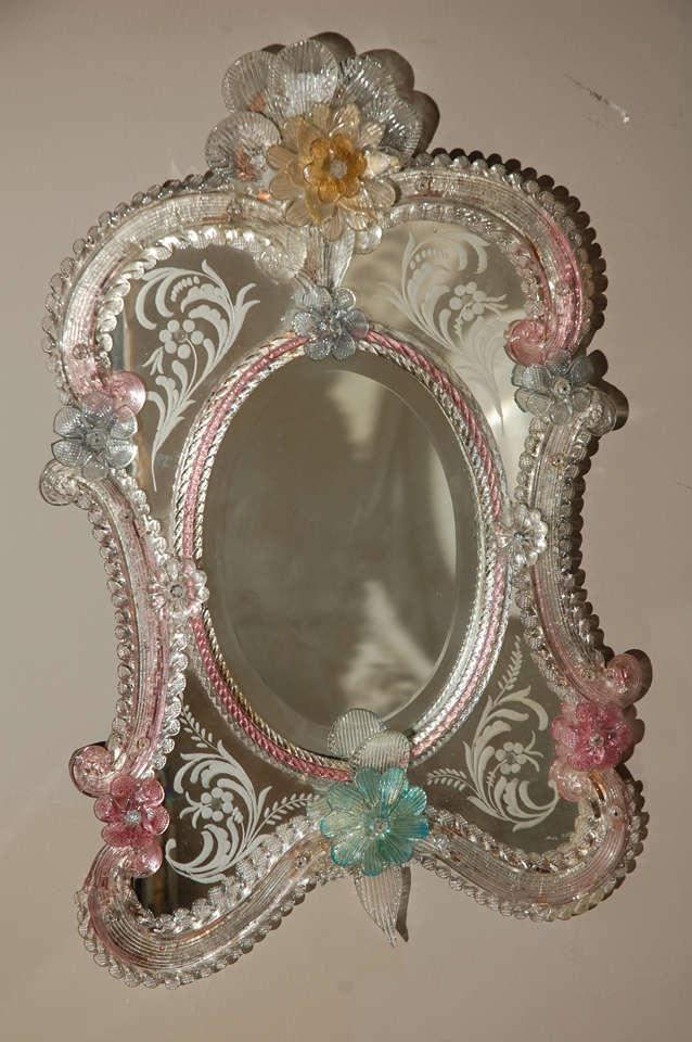 Colorful Vintage Venetian Mirror At 1stdibs
