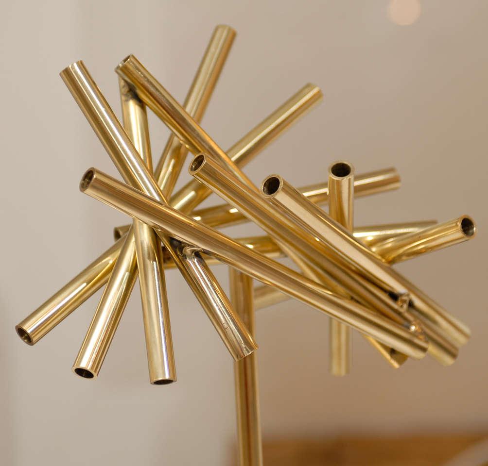 Gold Stick Sculpture In Excellent Condition For Sale In Atlanta, GA