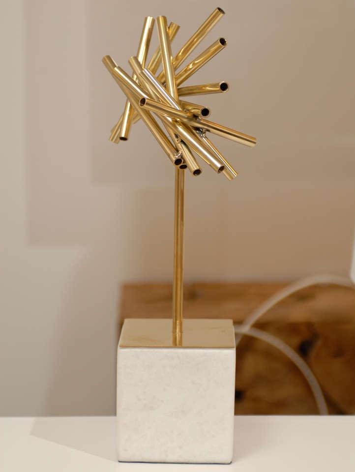 Gold Stick Sculpture For Sale 1