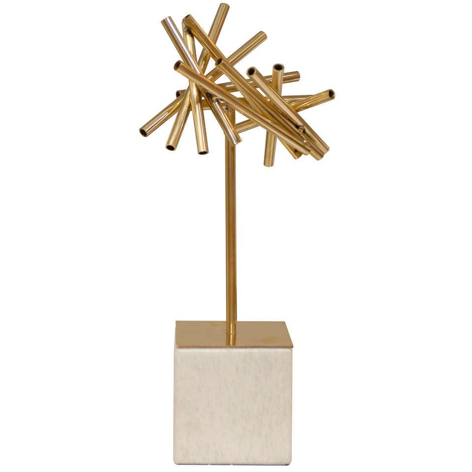 Gold Stick Sculpture For Sale