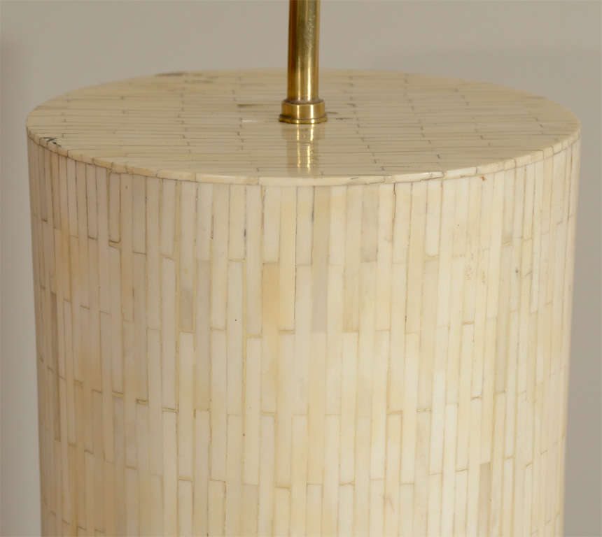 Large Scaled Table Lamp, Handcrafted from Bone 4