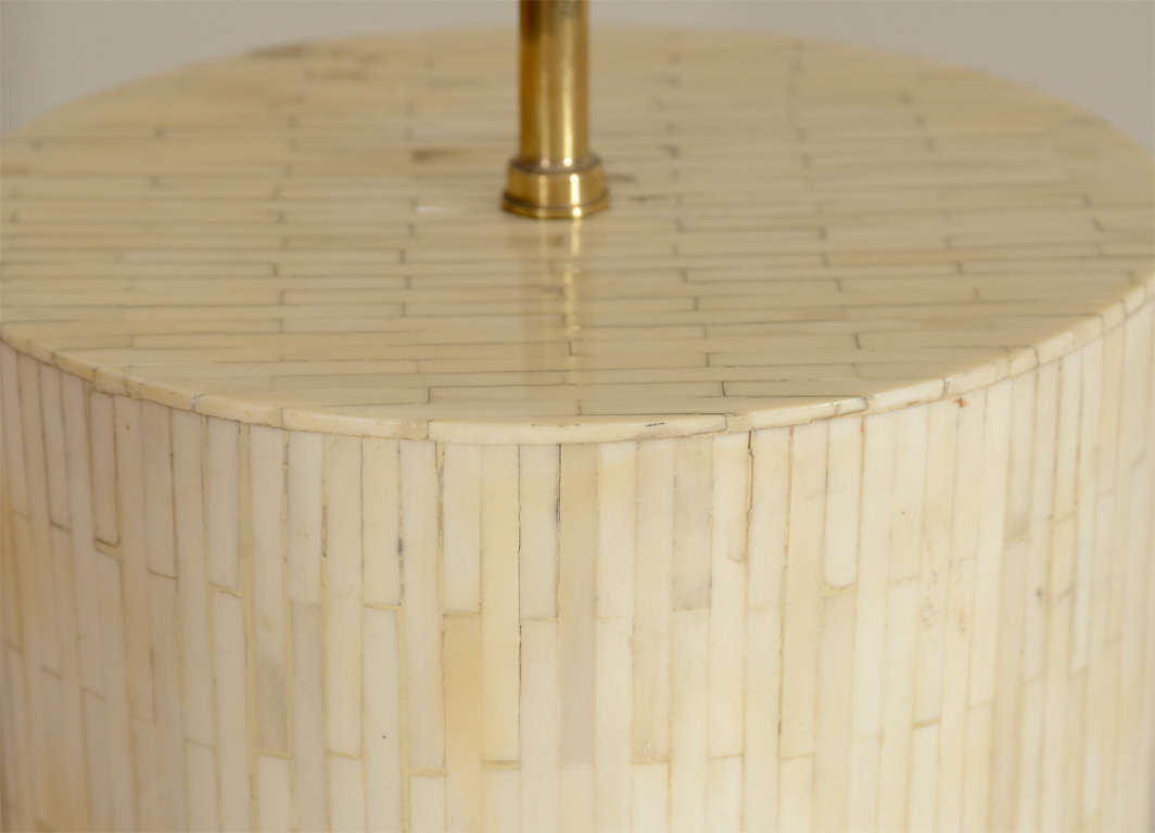 Large Scaled Table Lamp, Handcrafted from Bone 6