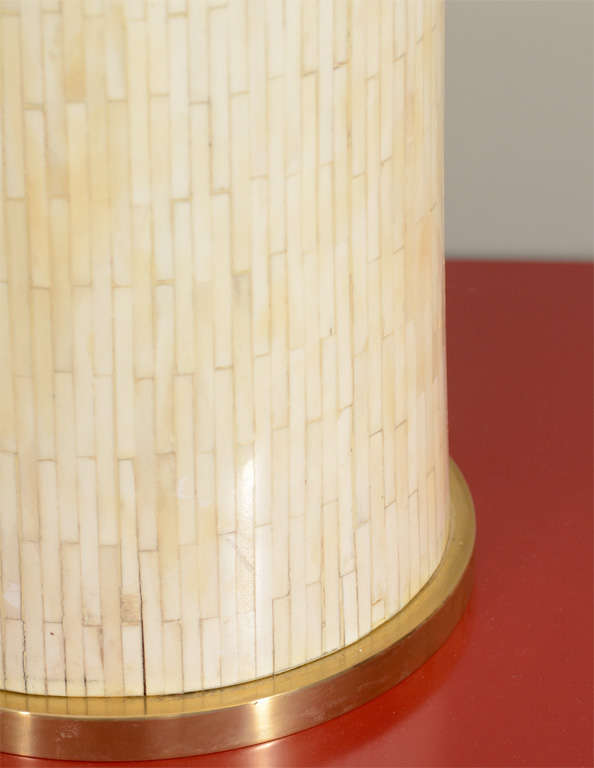 Large Scaled Table Lamp, Handcrafted from Bone 8