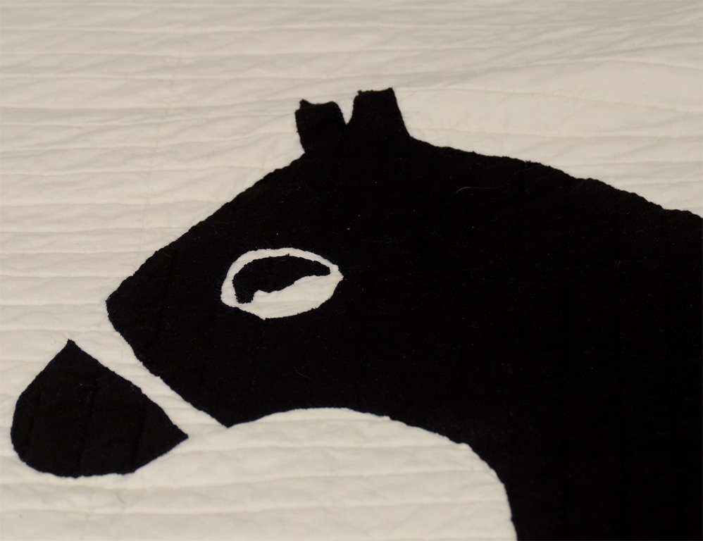 Queen Size Dylan Egon Quilt with His Signature Motif In Excellent Condition For Sale In New York, NY
