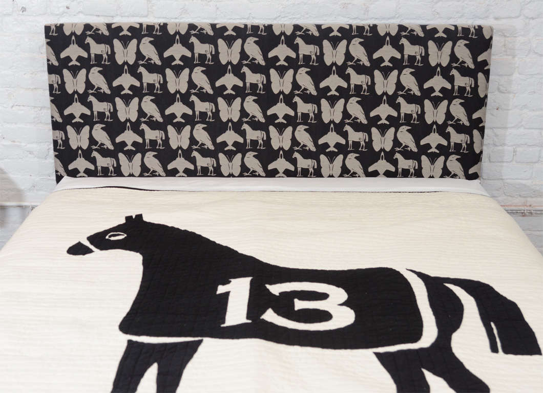 Queen Size Dylan Egon Quilt with His Signature Motif For Sale 2