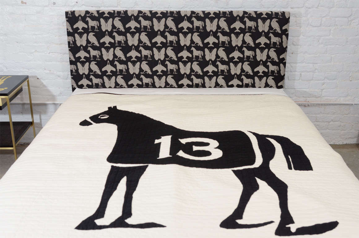 Queen Size Dylan Egon Quilt with His Signature Motif For Sale 3