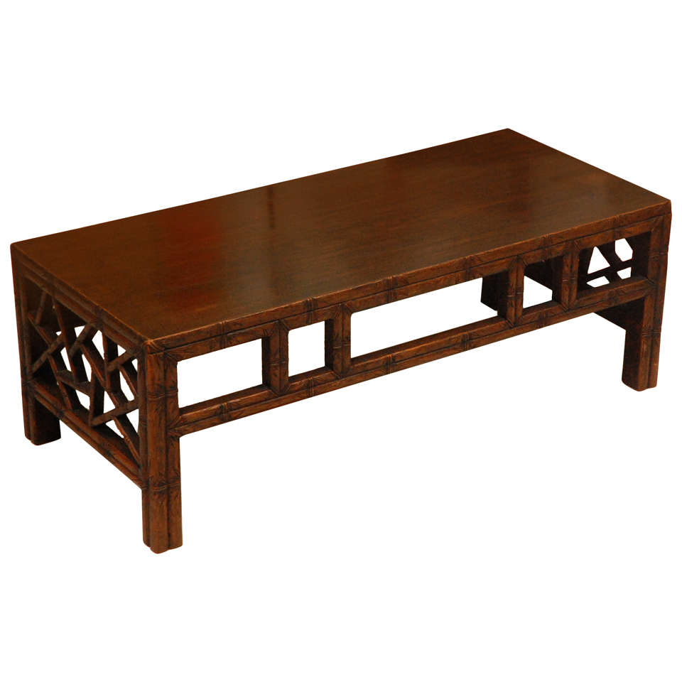 A Chinese Style Carved Hardwood Low Table At 1stdibs