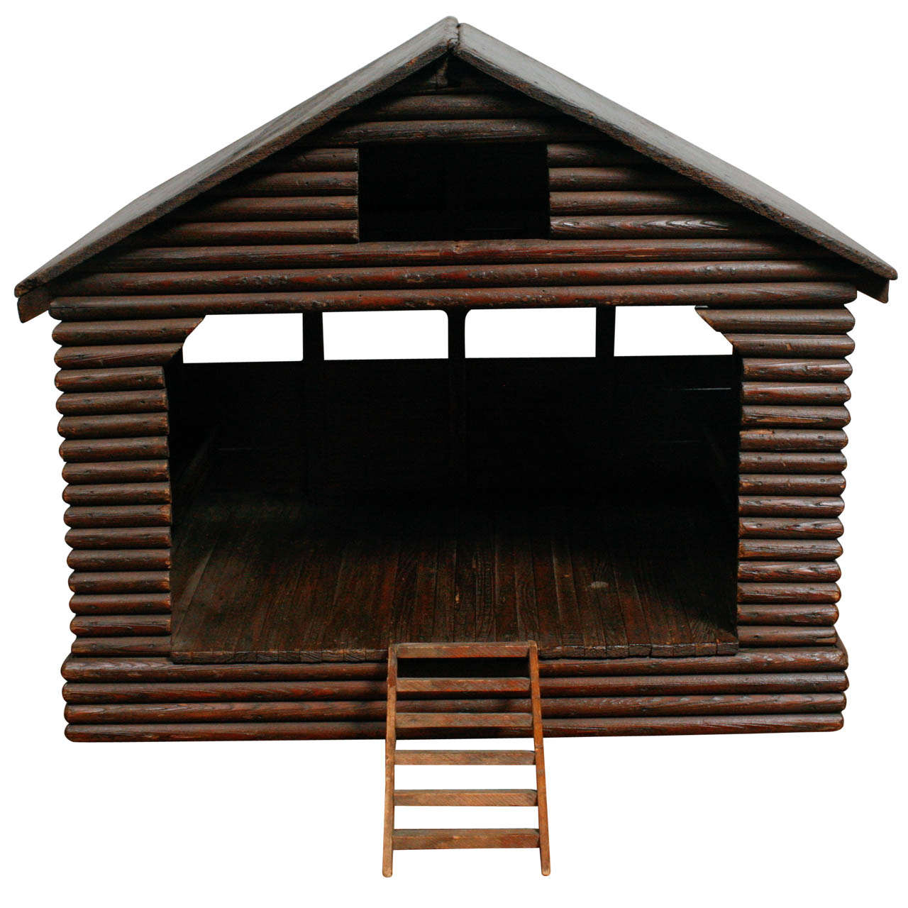 American Folk Art Barn/ Horse Stable Model