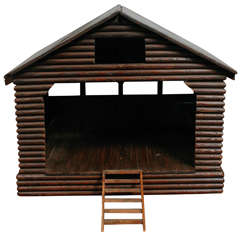 American Folk Art Barn/ Horse Stable Model