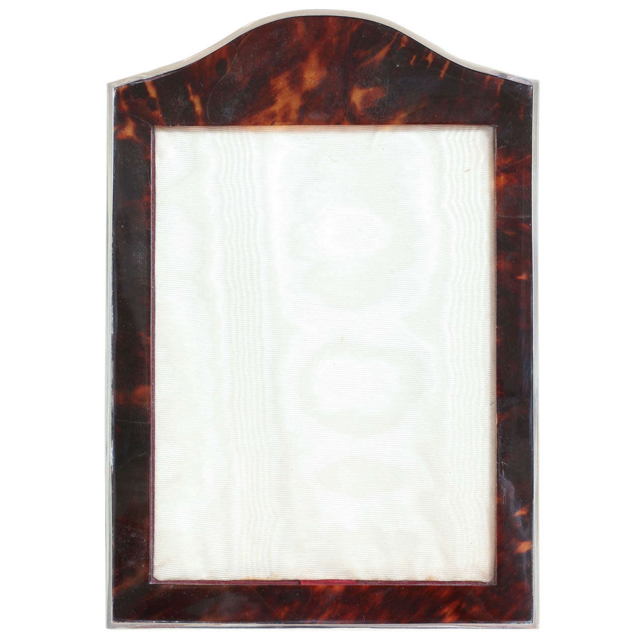 Charles Henry Dumenil Art Deco Faux Tortoiseshell and Silver Photograph Frame For Sale