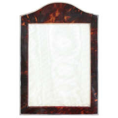 Charles Henry Dumenil Art Deco Faux Tortoiseshell and Silver Photograph Frame