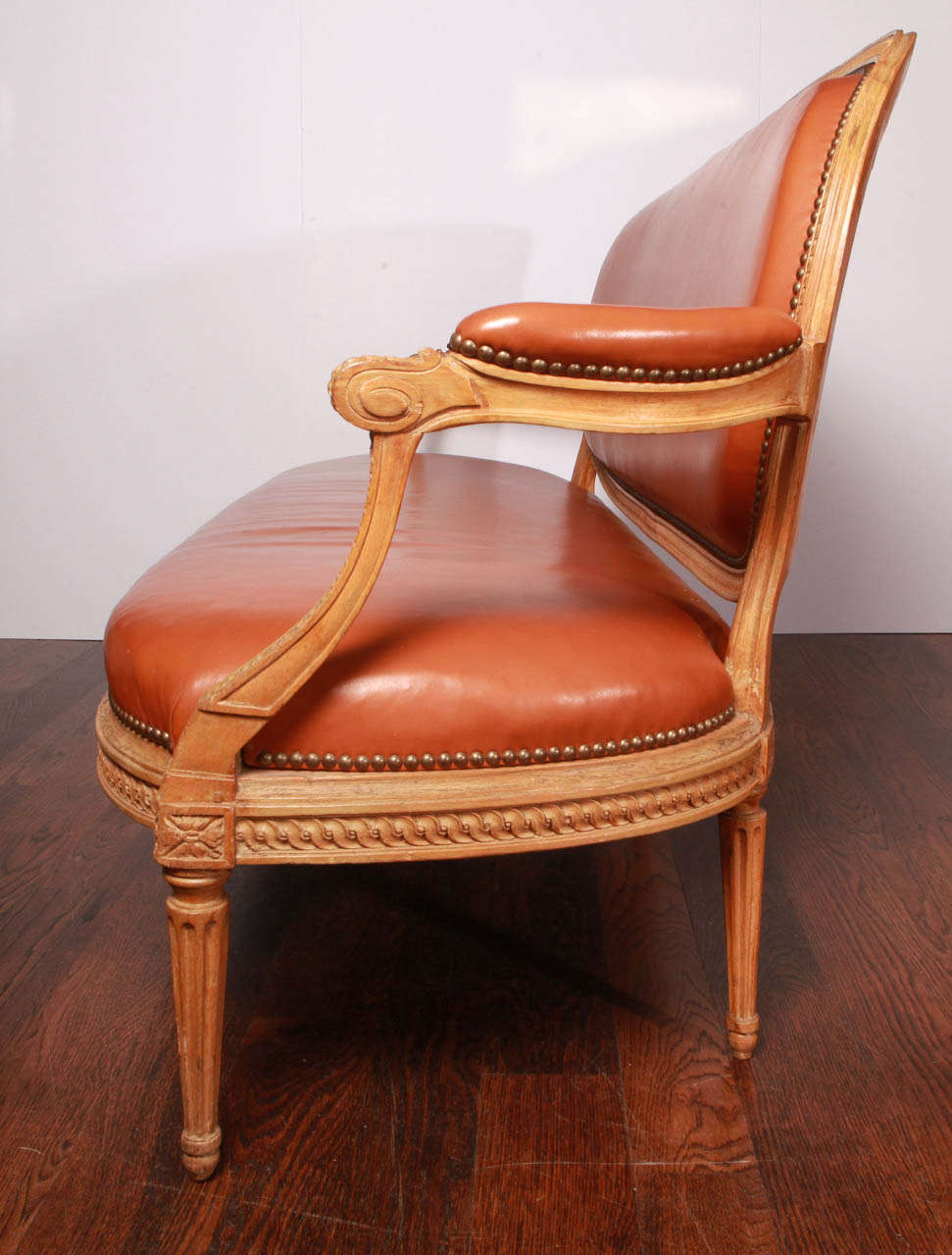 French Louis XVI Beechwood Settee For Sale