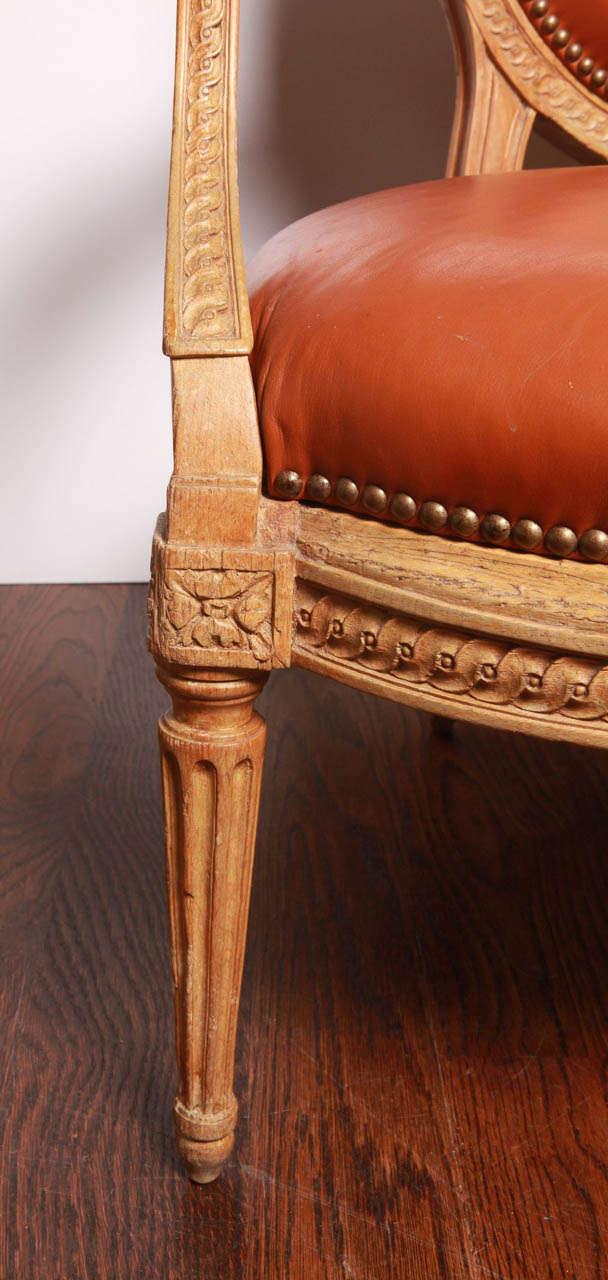 Louis XVI Beechwood Settee For Sale 1