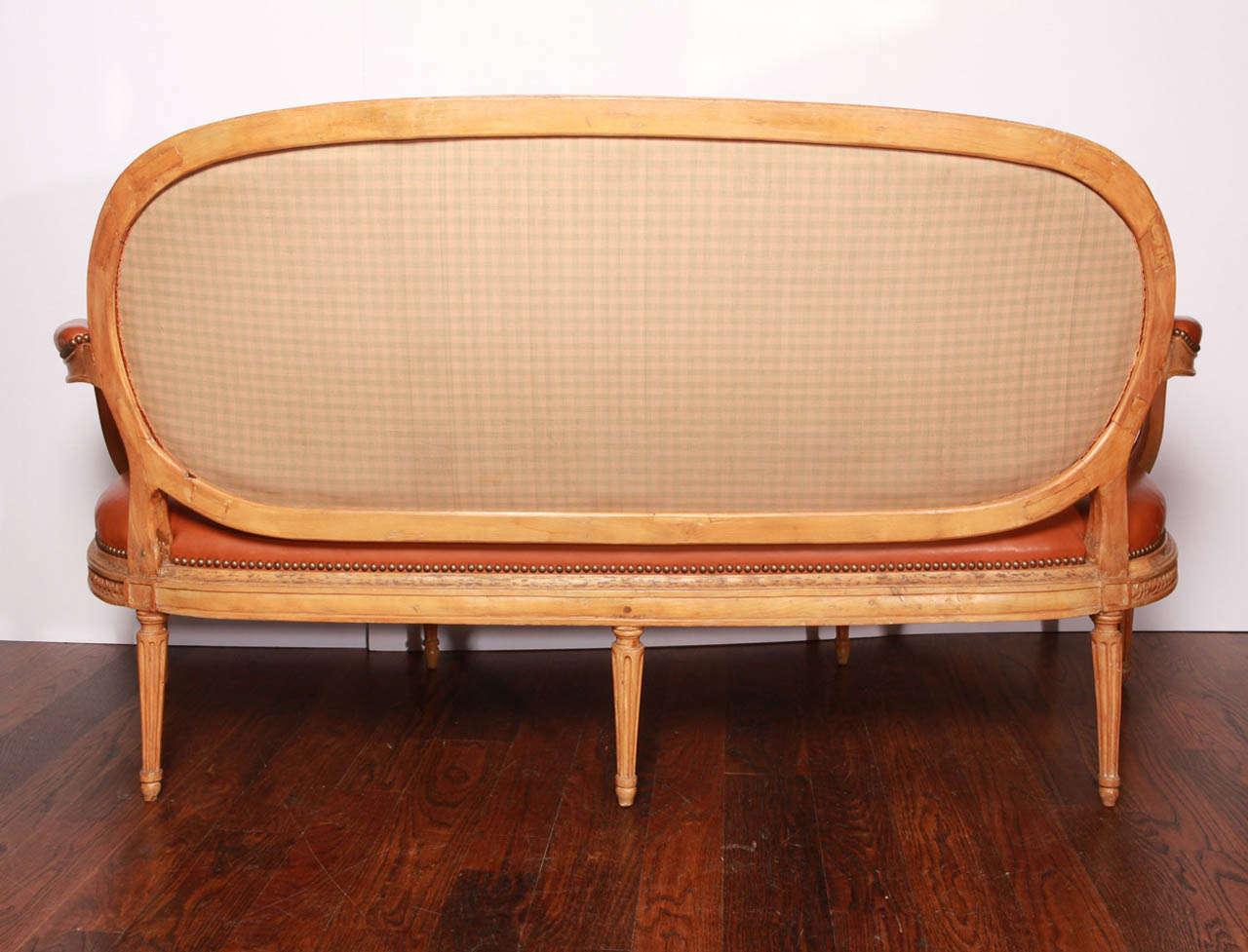 Louis XVI Beechwood Settee For Sale 2