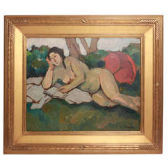 20th Century Female Figure in Garden