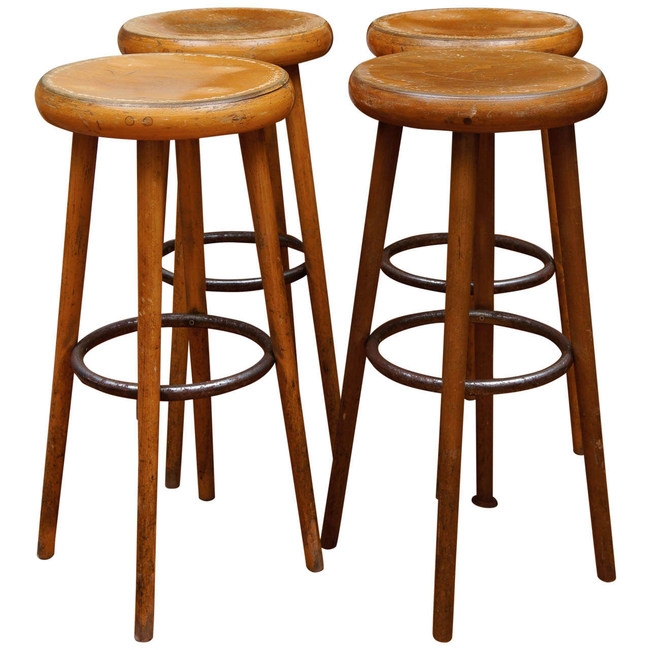 French Industrial Bar Stools At 1stdibs
