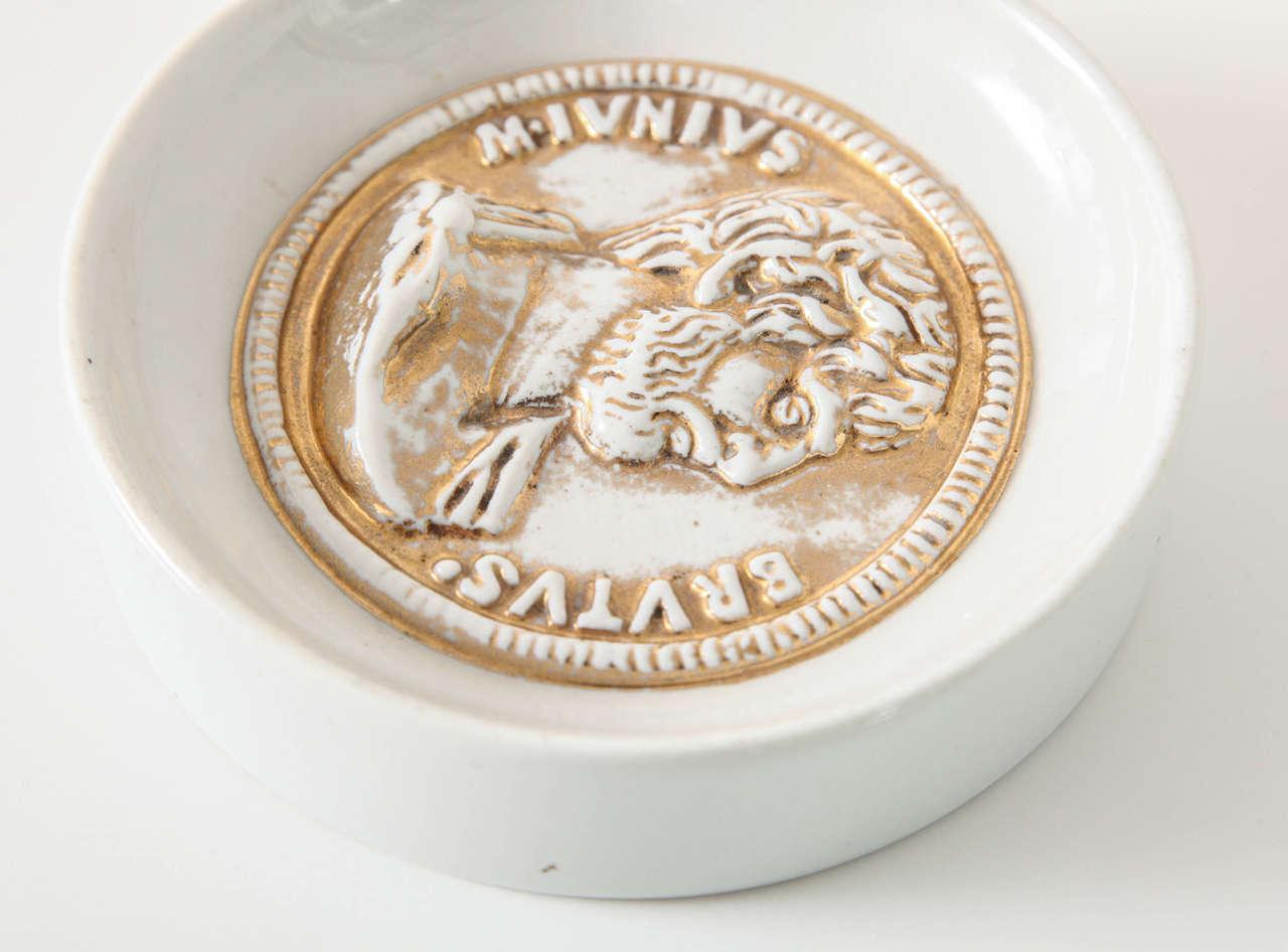 Porcelain Fornasetti Brutus Dish For Sale