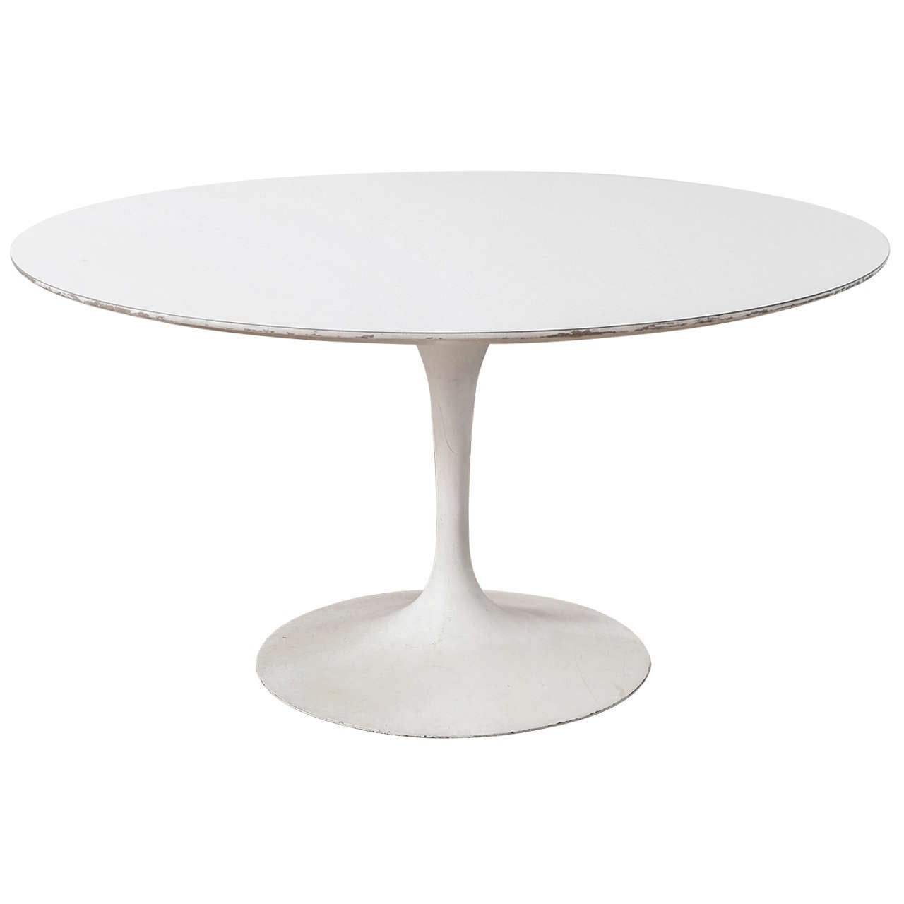 Distressed Saarinen For Knoll Tulip Table For Sale At 1stdibs