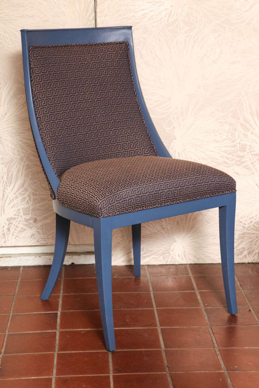American Greek Key Art Deco Chair For Sale