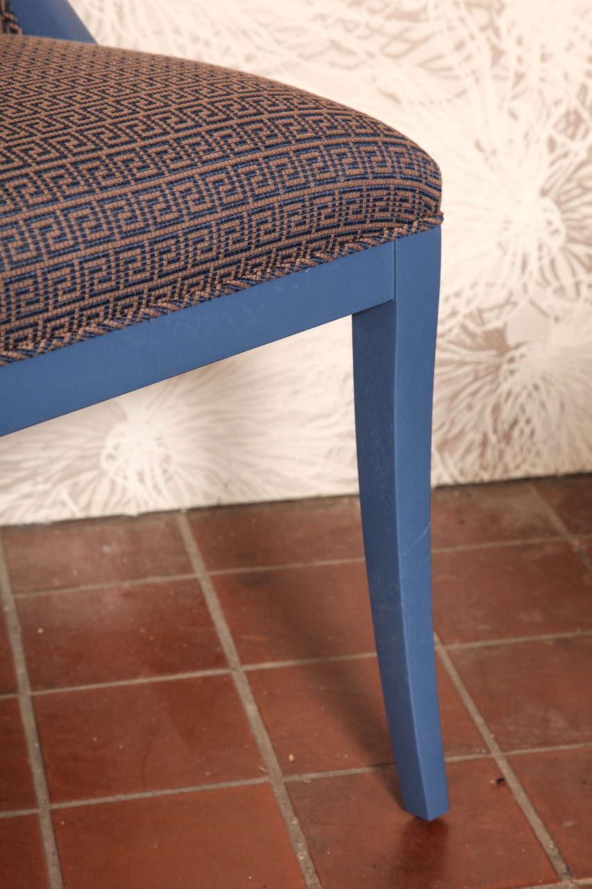 Needlepoint Greek Key Art Deco Chair For Sale