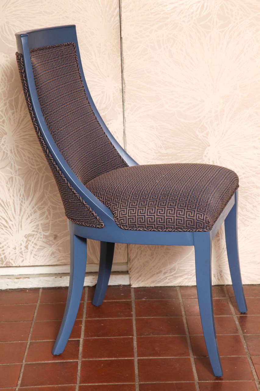Mid-20th Century Greek Key Art Deco Chair For Sale