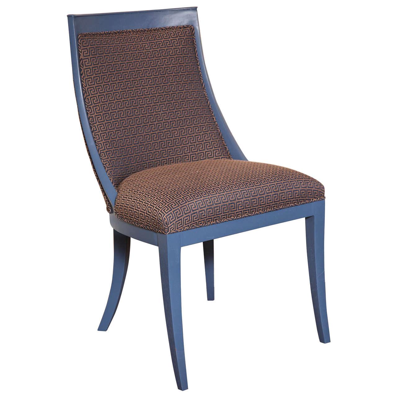 Greek Key Art Deco Chair For Sale