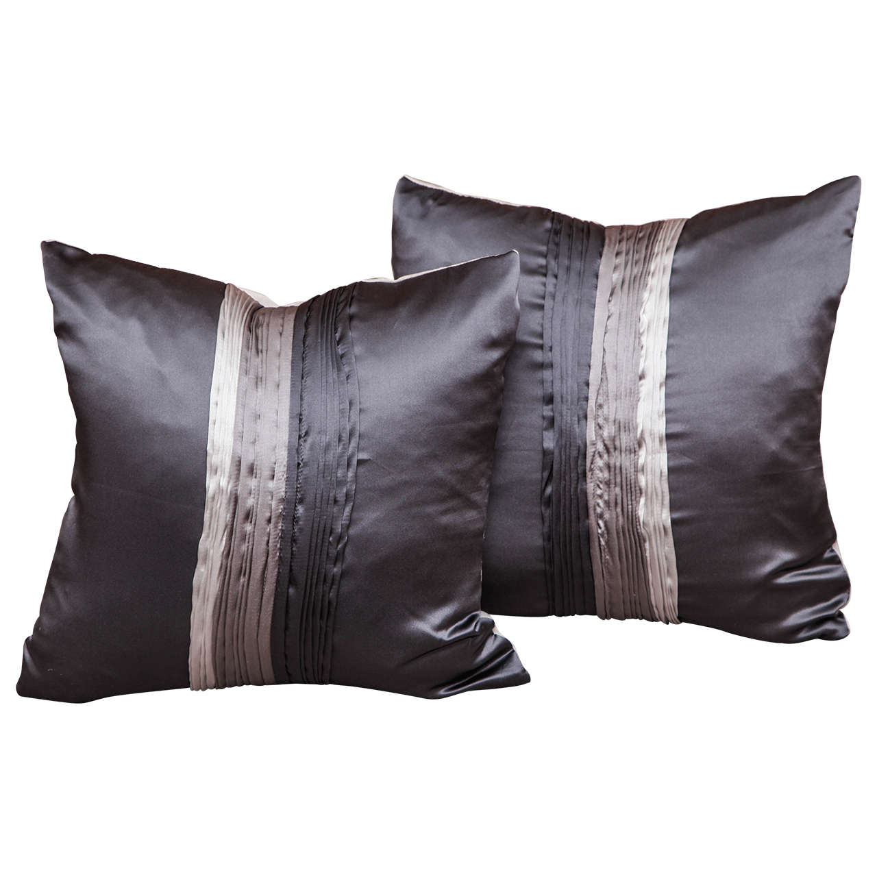Silk Elegant Pillows with Art Deco Style