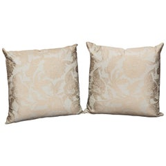 British Colonial Silk Elegant Pillows by Arlene Angard