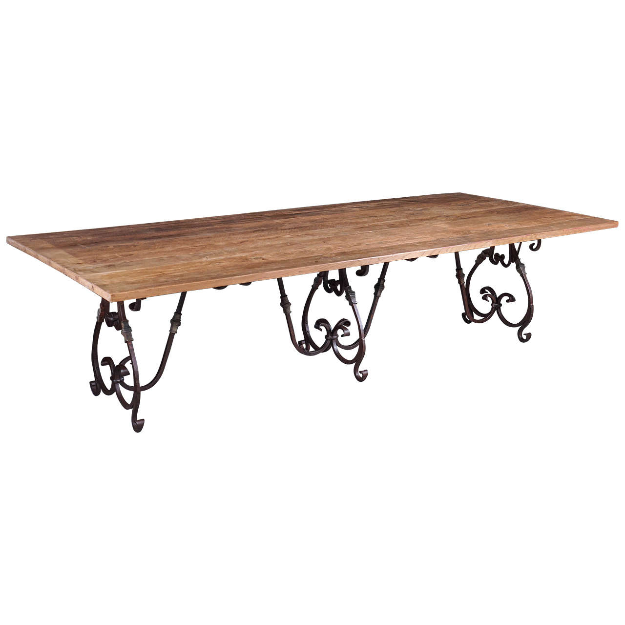 Style Indoor Outdoor Wrought Iron Dining Table For Sale At 1stdibs