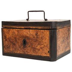 A mid 18th century English box, circa 1750