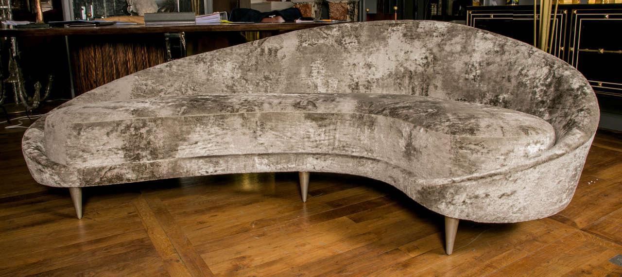 Elegant Italian Curved Sofa At 1stdibs