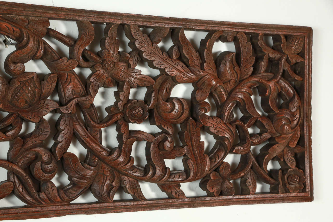 Asian hand carved wood panel relief at stdibs
