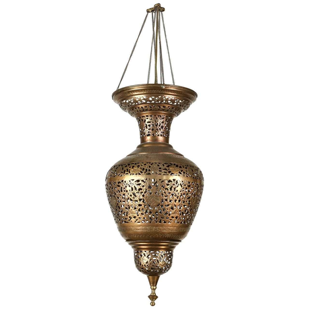 Moorish Brass Hanging Light Fixture For Sale At 1stdibs