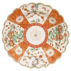 """An 18th Century Worcester Porcelain Japan """"Chrysanthemum"""" Pattern  Dish"""