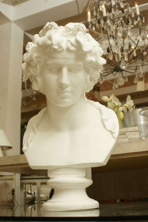 White Chalk Plaster Classical Bust 3